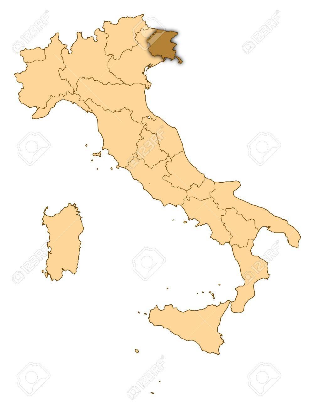 Cartina Italia Venezia