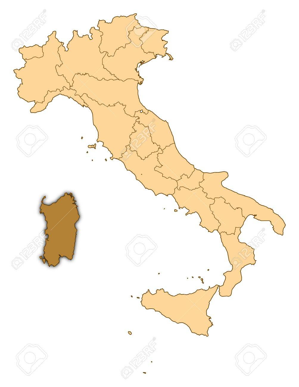 Cartina Sardegna Maps