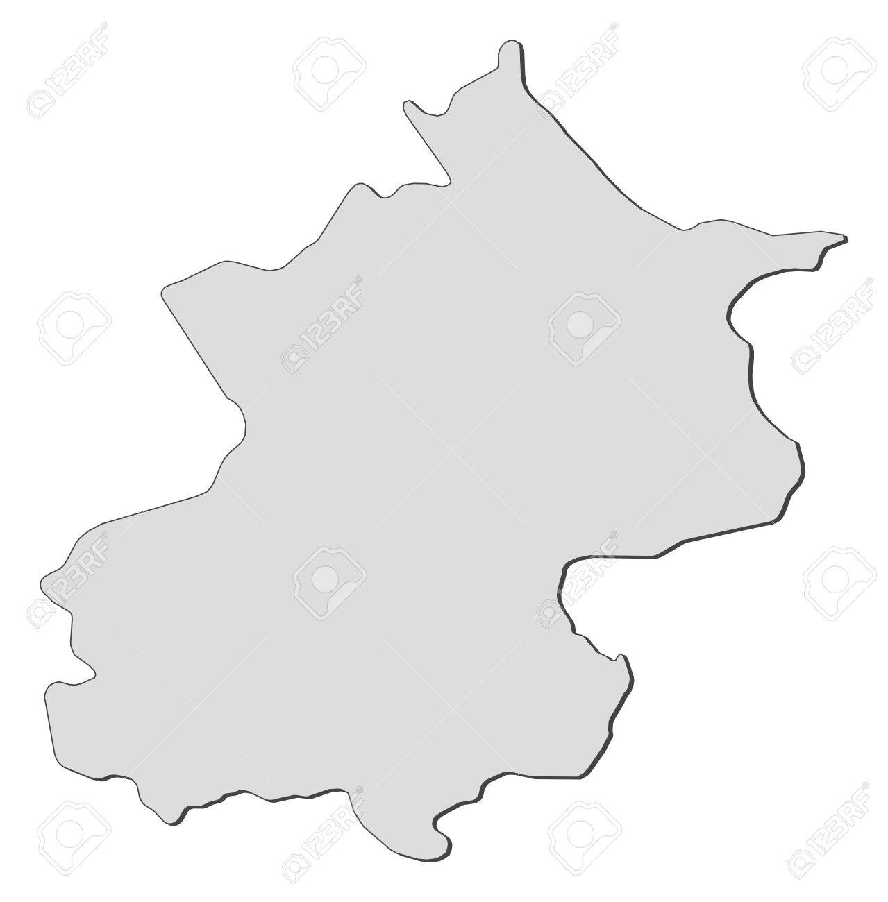 Map of Beijing, a province of China. Stock Vector - 14449980