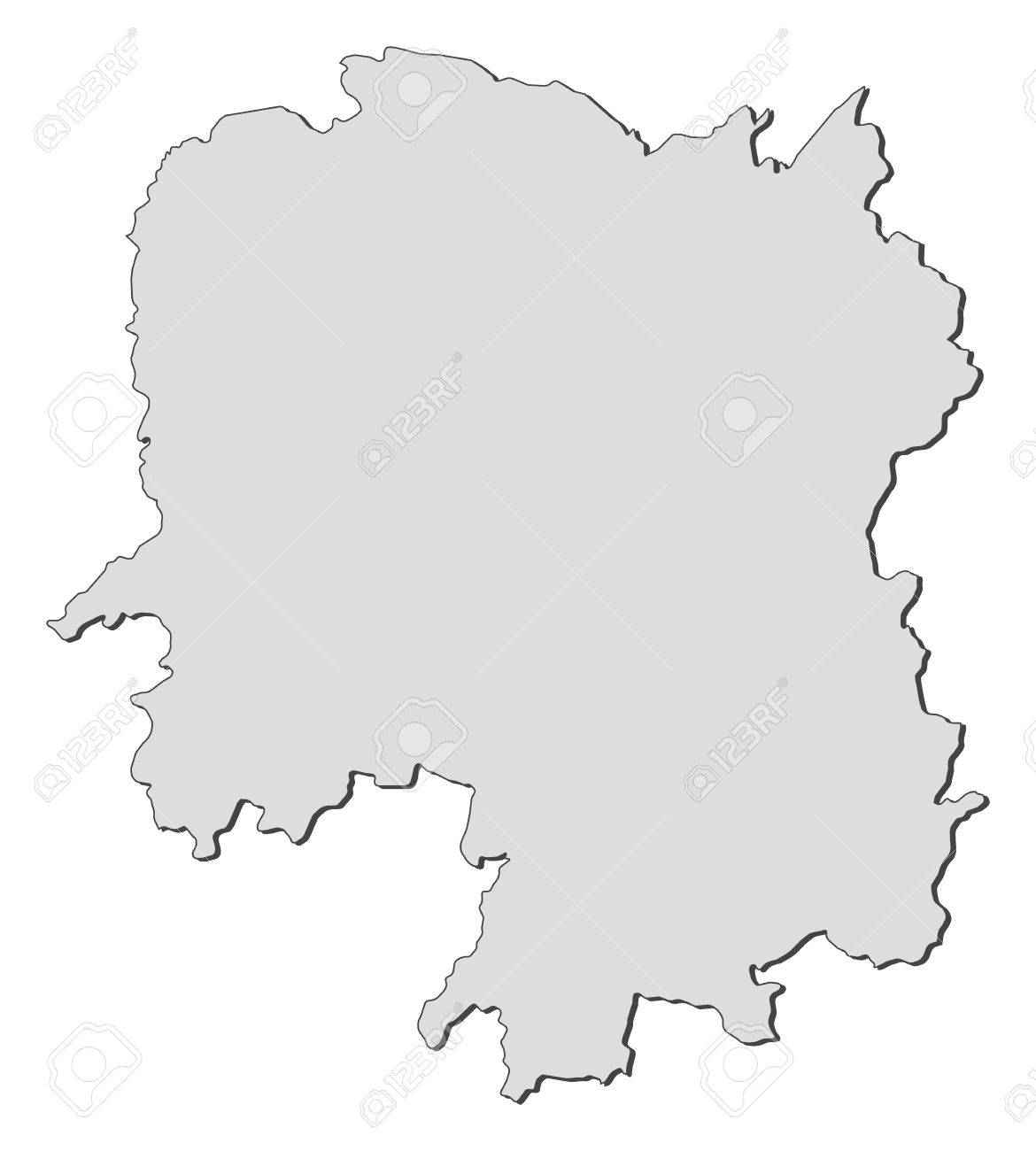 Map of Hunan, a province of China. Stock Vector - 14449994