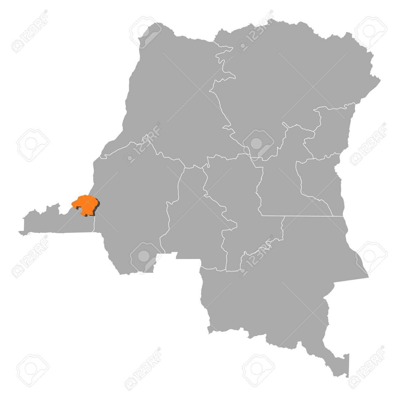 Map Of Democratic Republic Of The Congo Where Kinshasa Is