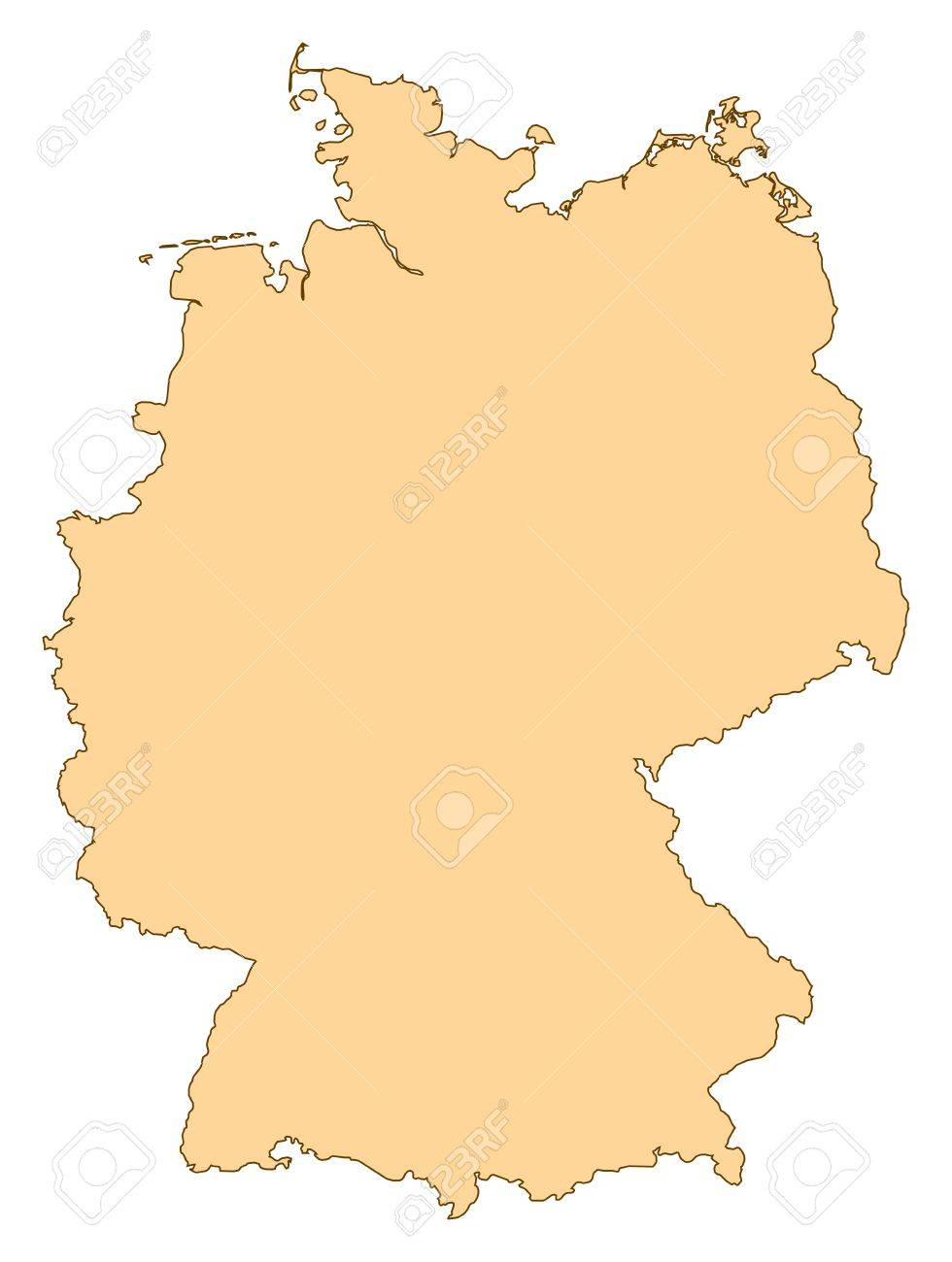 Map Of Germany With The Several Provinces Royalty Free Cliparts - Germany map provinces