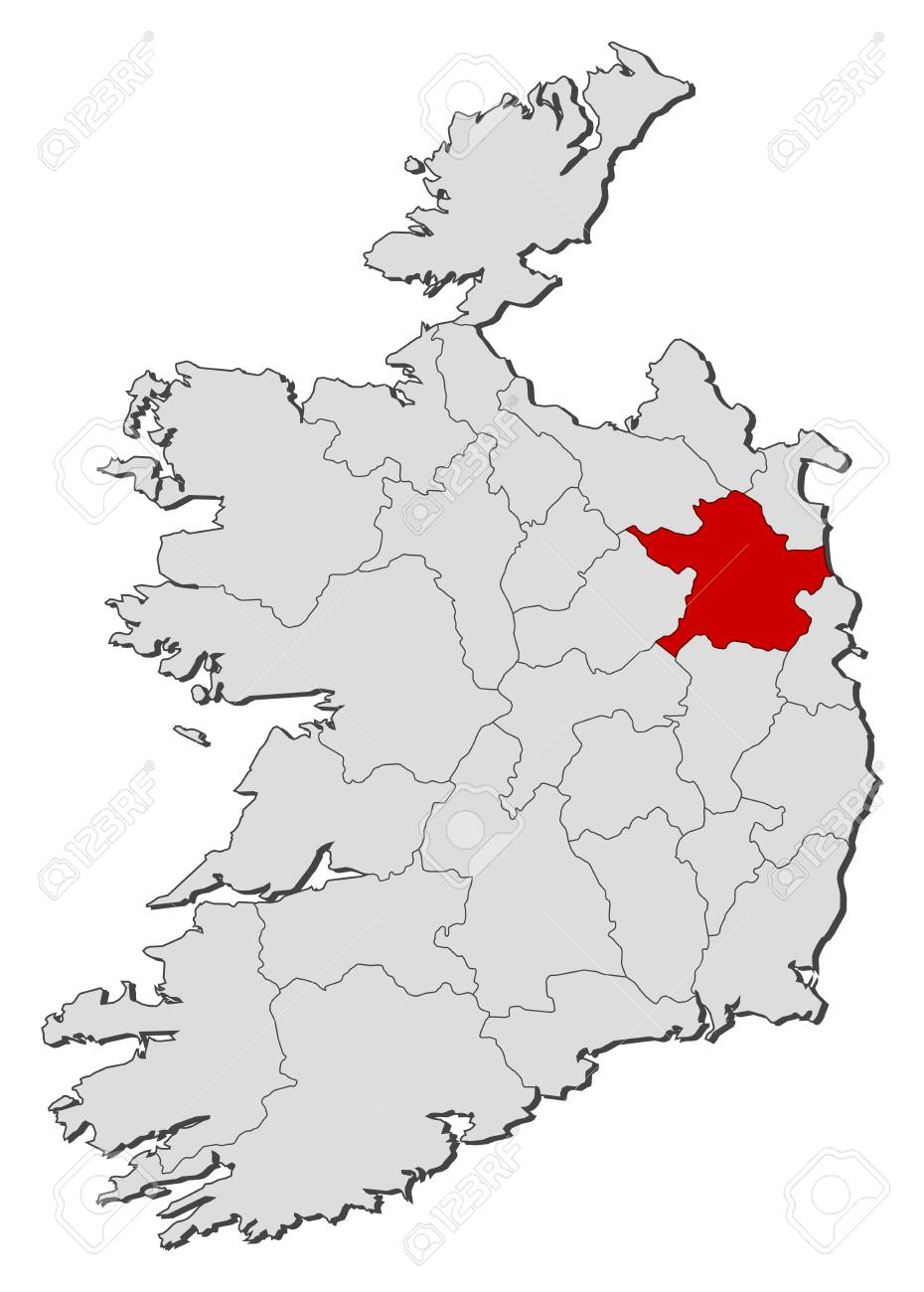Map Of Ireland With The Provinces Meath Is Highlighted Royalty