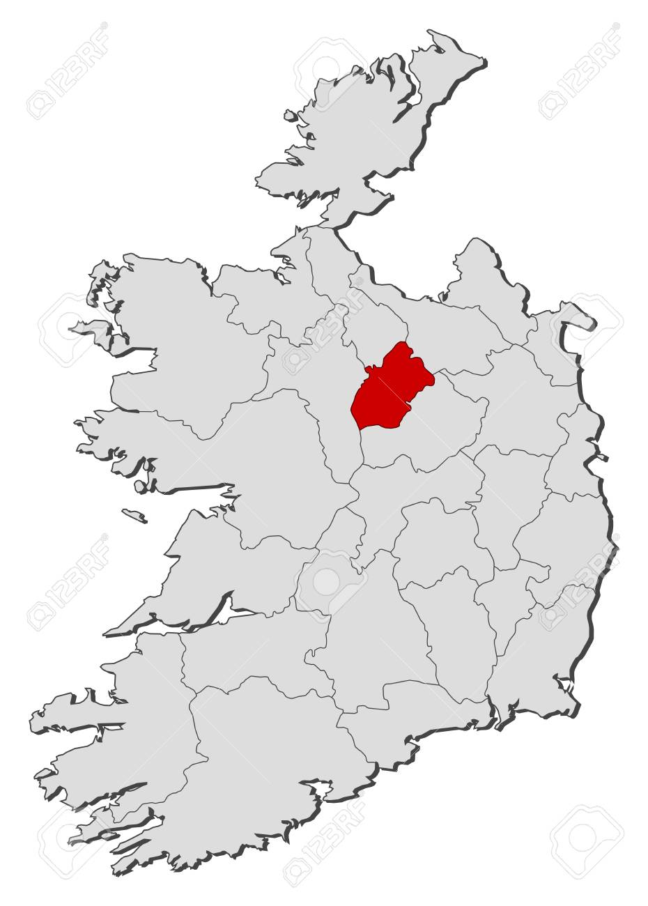 Map Of Ireland Longford.Map Of Ireland With The Provinces Longford Is Highlighted