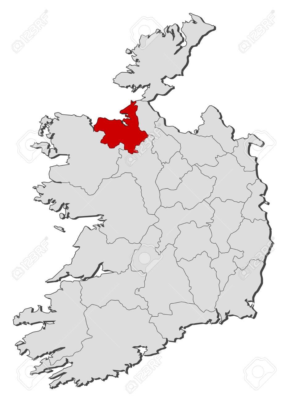 Sligo Map Of Ireland.Map Of Ireland With The Provinces Sligo Is Highlighted