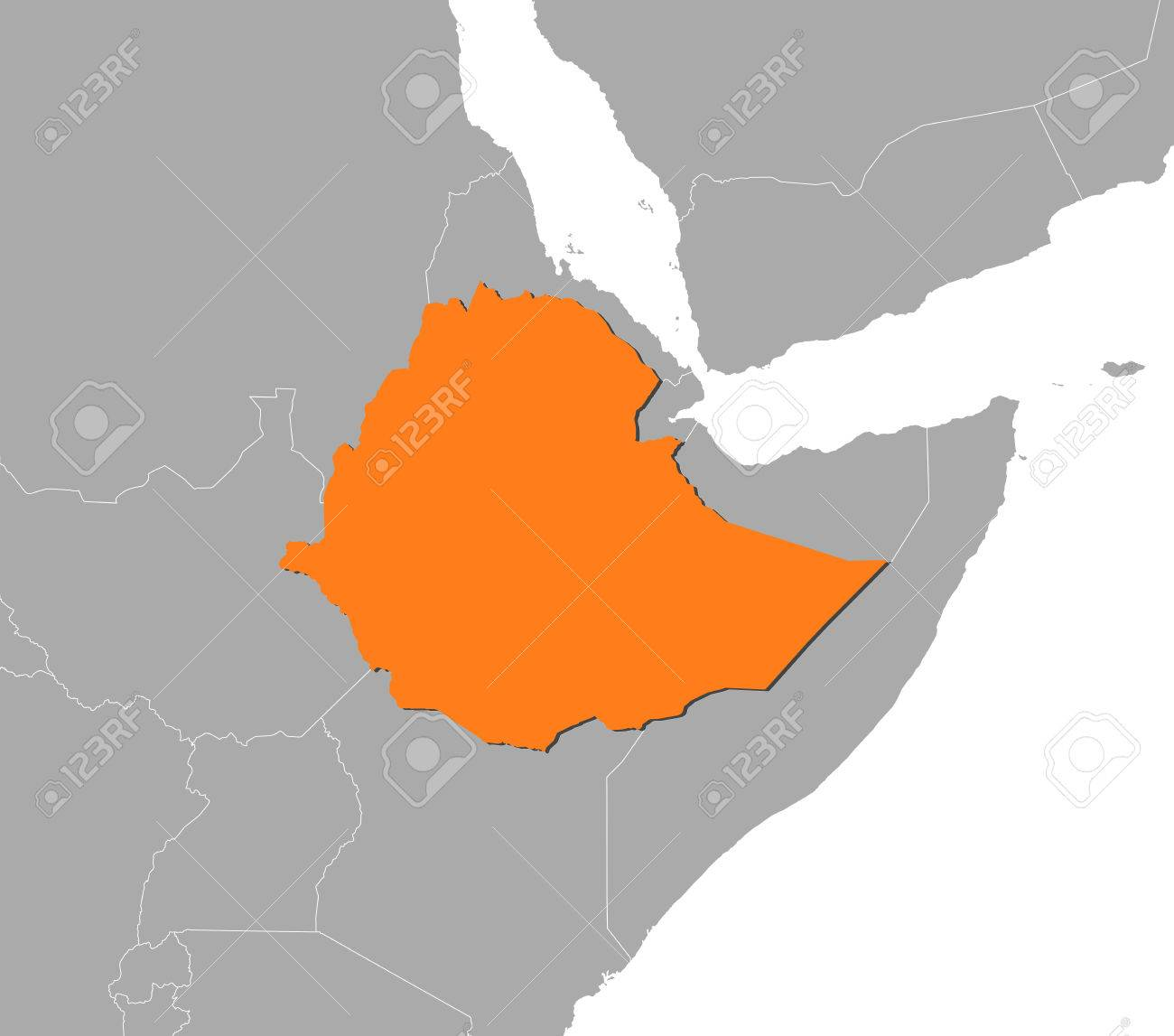 Map of ethiopia and nearby countries ethiopia is highlighted map of ethiopia and nearby countries ethiopia is highlighted in orange stock vector gumiabroncs Gallery