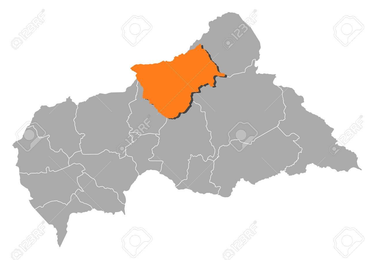 地図地方と中央アフリカ共和国、...