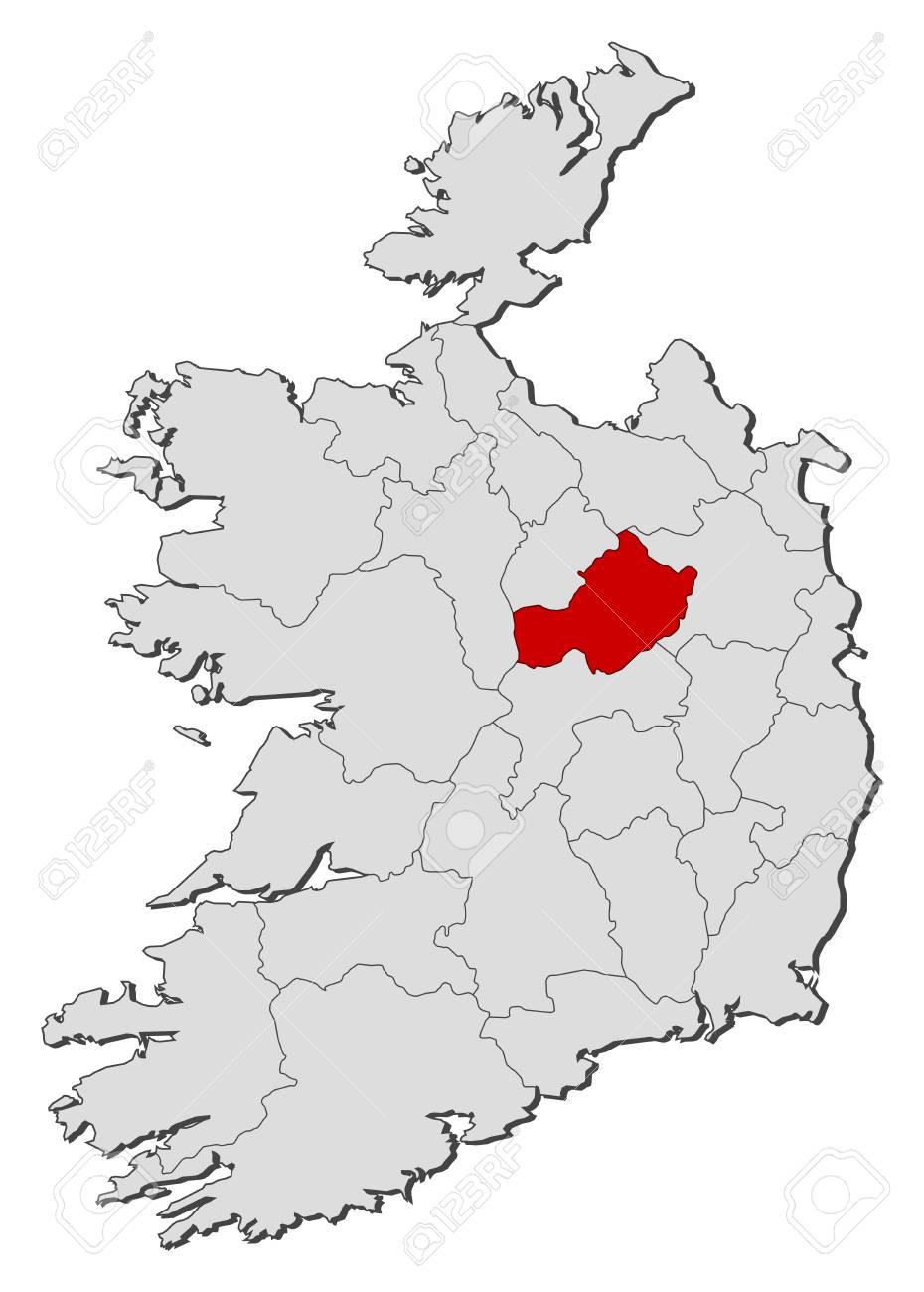 Westmeath Ireland Map.Map Of Ireland With The Provinces Westmeath Is Highlighted Royalty