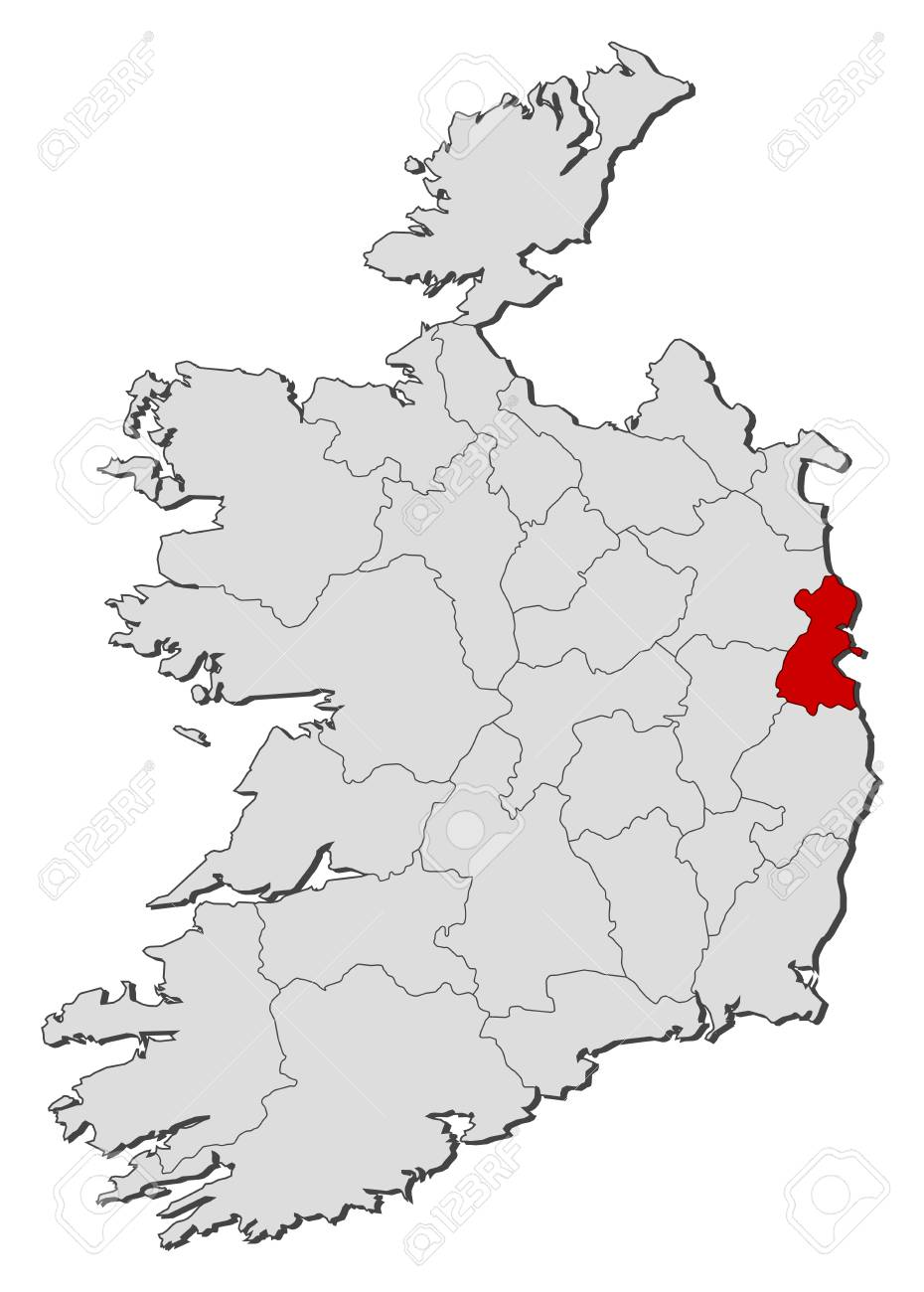 Dublin On Map Of Ireland.Map Of Ireland With The Provinces Dublin Is Highlighted