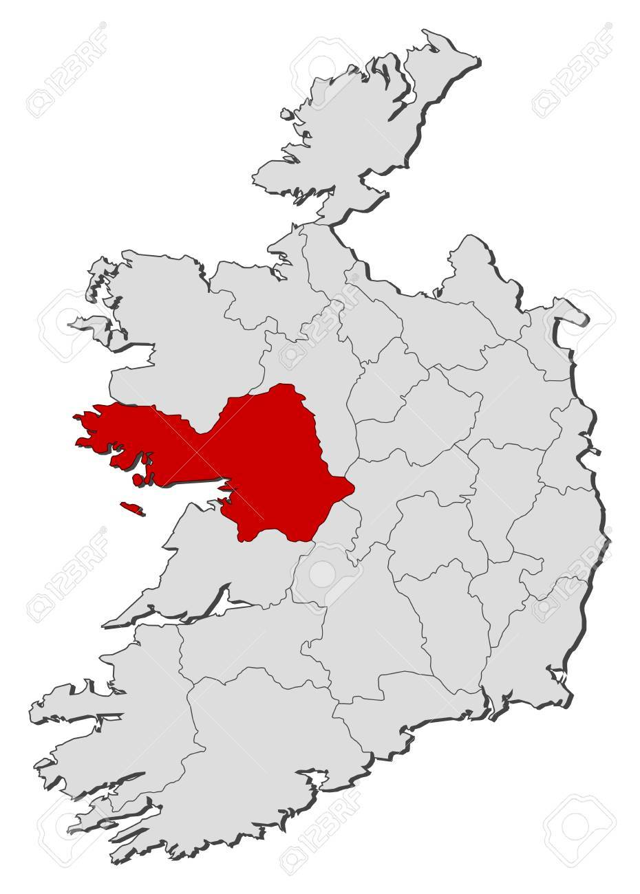 Map Of Ireland Galway.Map Of Ireland With The Provinces Galway Is Highlighted
