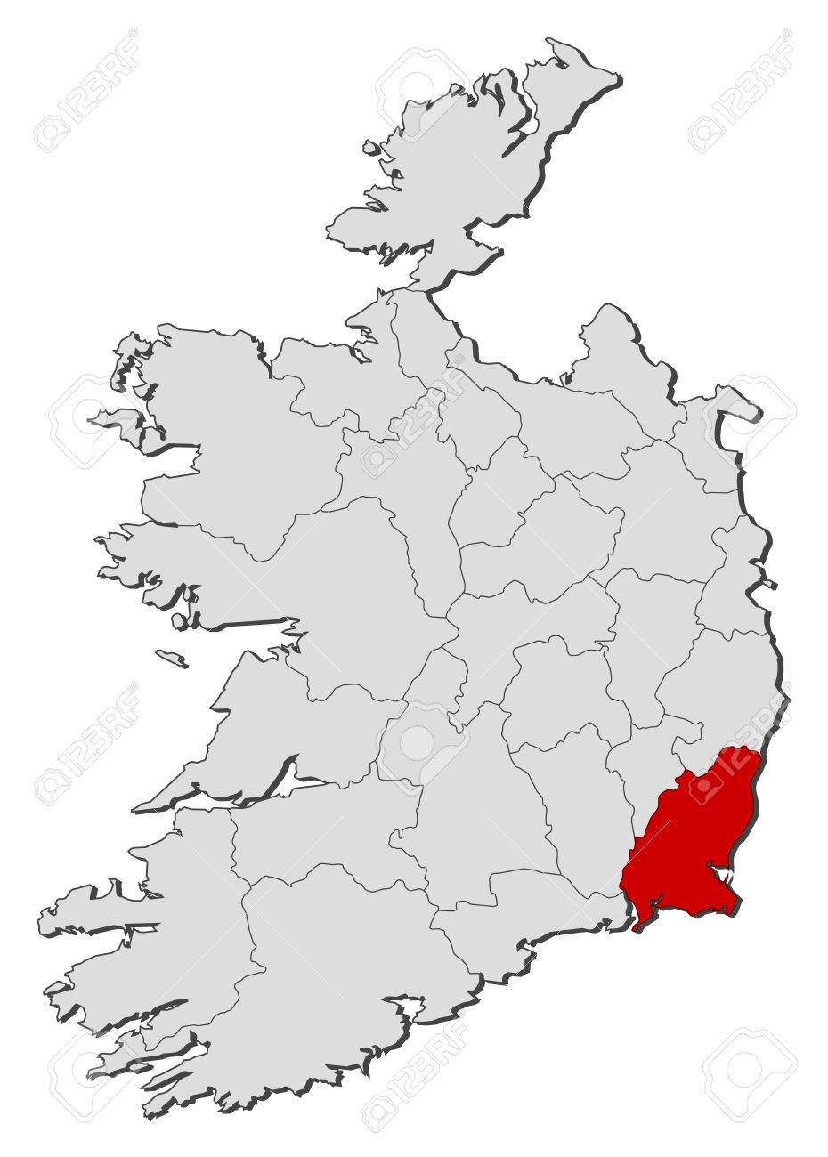 Wexford Map Of Ireland.Map Of Ireland With The Provinces Wexford Is Highlighted