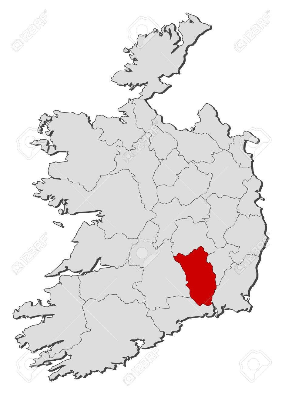 Map Of Ireland Showing Kilkenny.Map Of Ireland With The Provinces Kilkenny Is Highlighted Royalty
