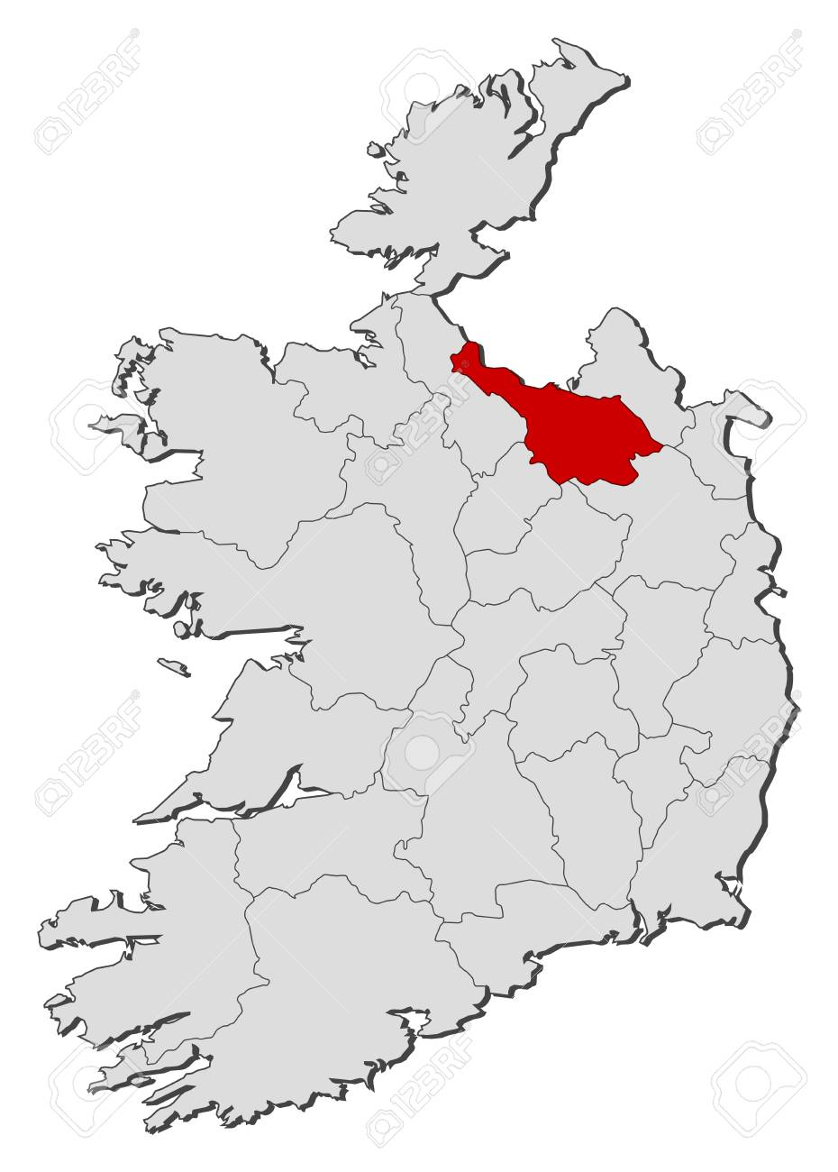 Map Of Ireland Cavan.Map Of Ireland With The Provinces Cavan Is Highlighted