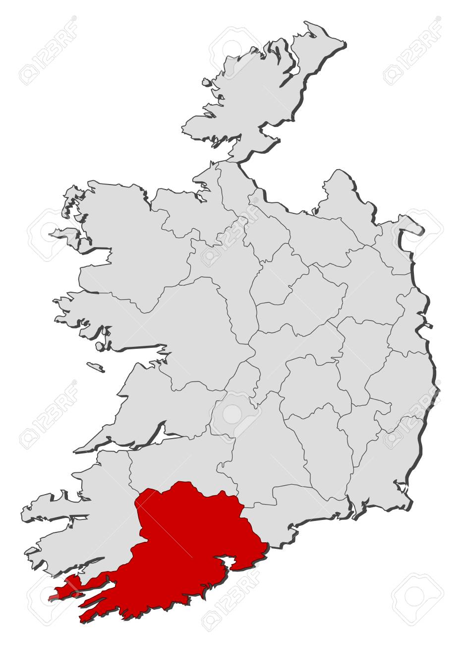 Map of ireland with the provinces cork is highlighted royalty free map of ireland with the provinces cork is highlighted stock vector 57902595 gumiabroncs Image collections