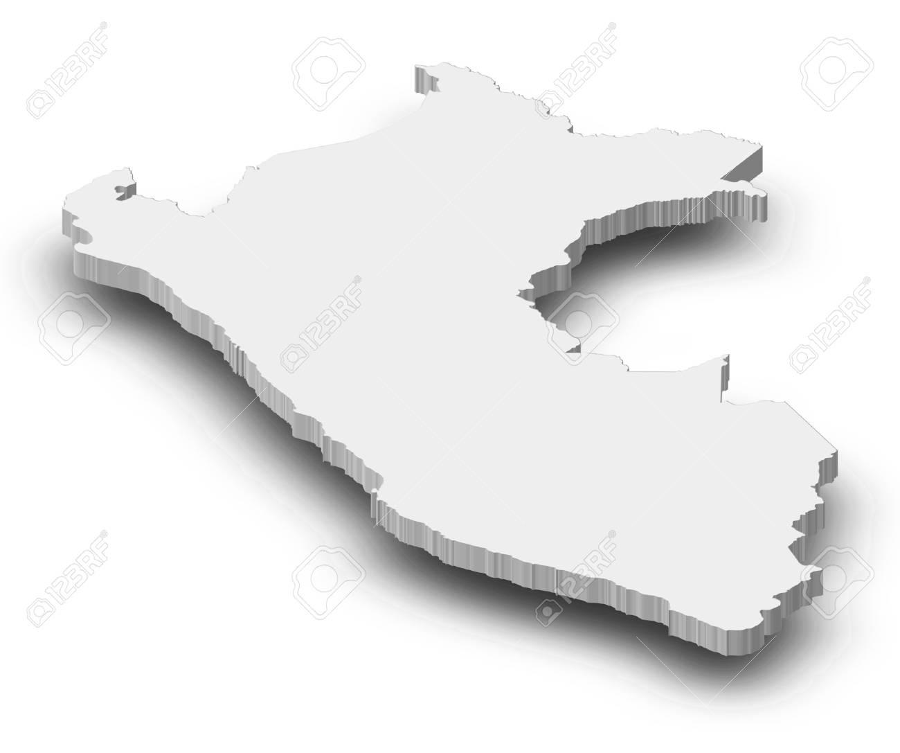 Peru Karte Umriss.Stock Photo