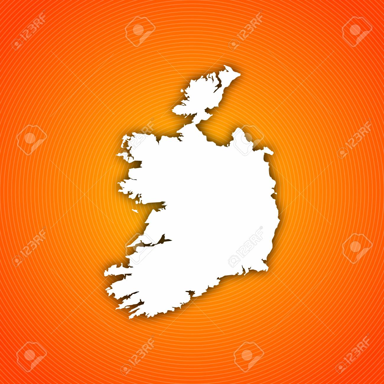 Map of Ireland with circled background in orange. Image Of World Map With Japan Circled on world map circles, world map oval, world map circuit, world map flipped, world map circular, world map highlighted, world map button, world map shaded, world map outline, world map connected,