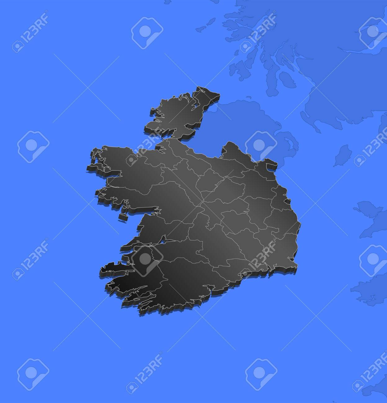Map of ireland and nearby countries ireland as a black piece map of ireland and nearby countries ireland as a black piece stock vector gumiabroncs Choice Image