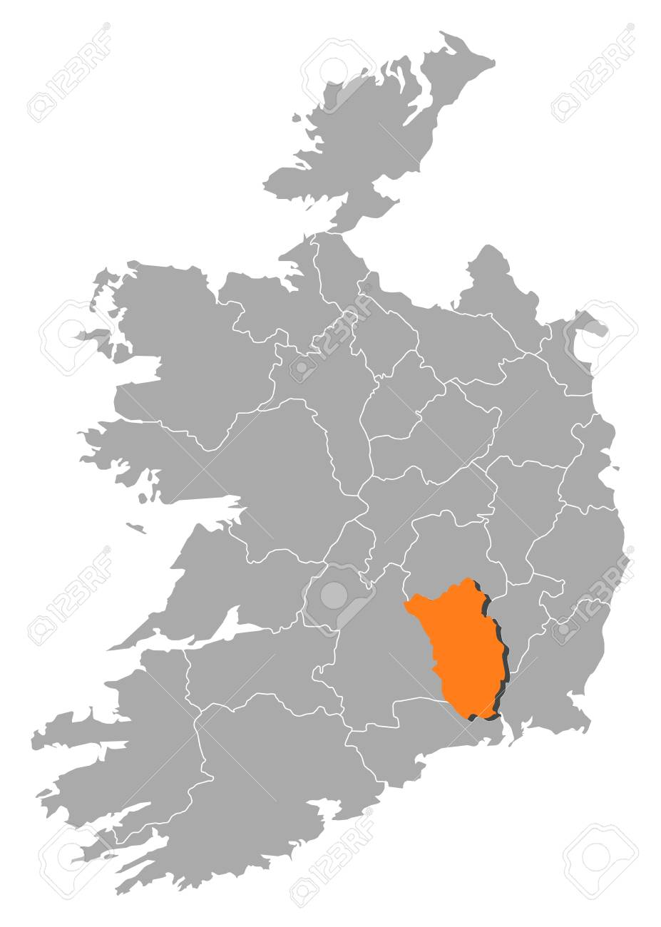 Map Of Ireland Showing Kilkenny.Map Of Ireland With The Provinces Kilkenny Is Highlighted By