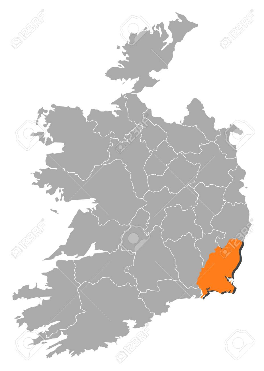 Wexford Map Of Ireland.Map Of Ireland With The Provinces Wexford Is Highlighted By