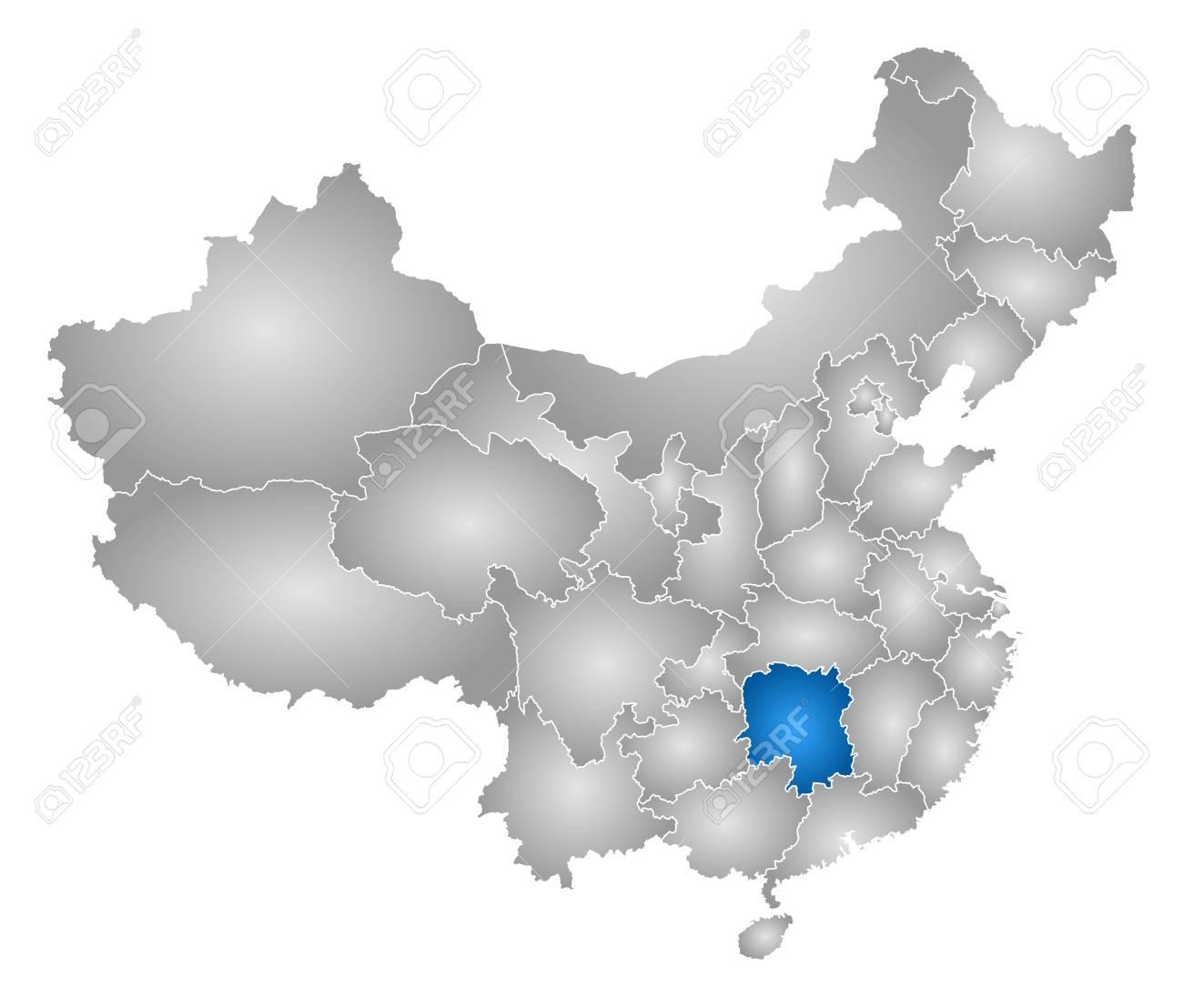 Carte Chine Hunan.Carte De La Chine Avec Les Provinces Rempli D Un Gradient Radial