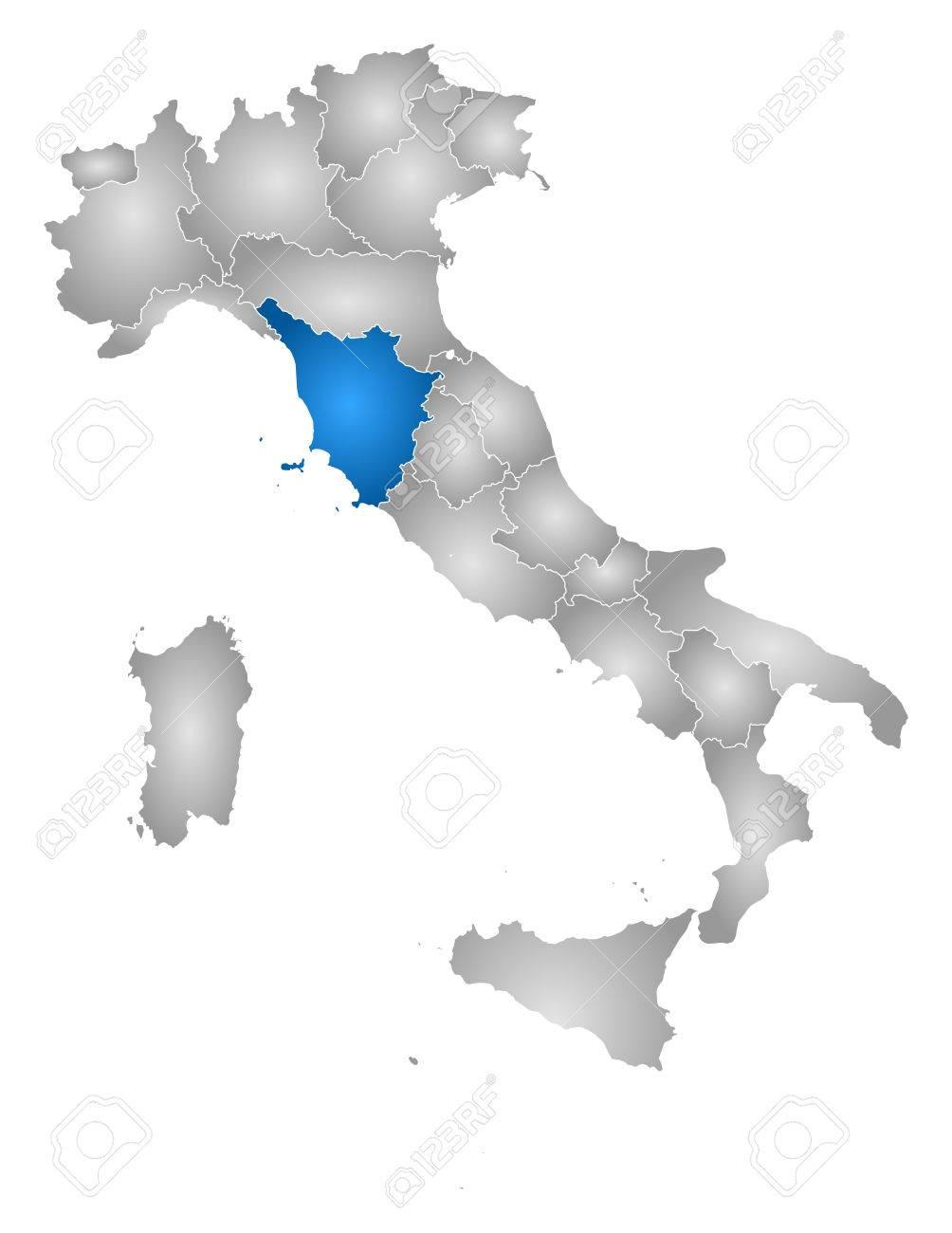 Toskana Karte Italien.Stock Photo