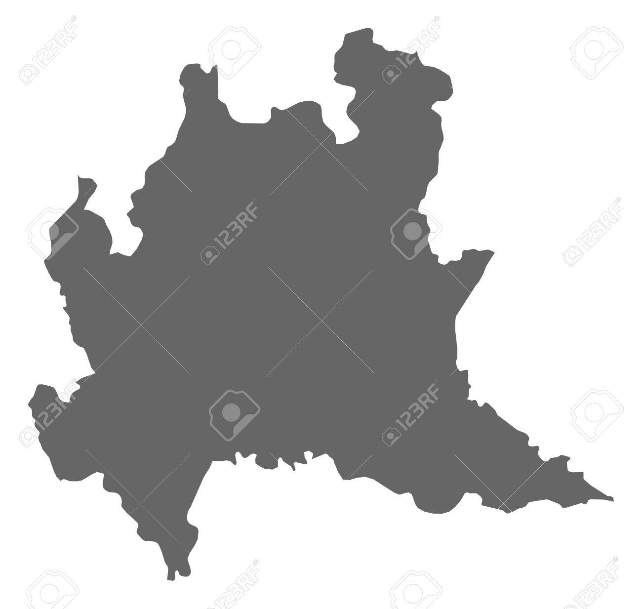 Map Of Lombardy, A Province Of Italy. Royalty Free Cliparts, Vectors ...