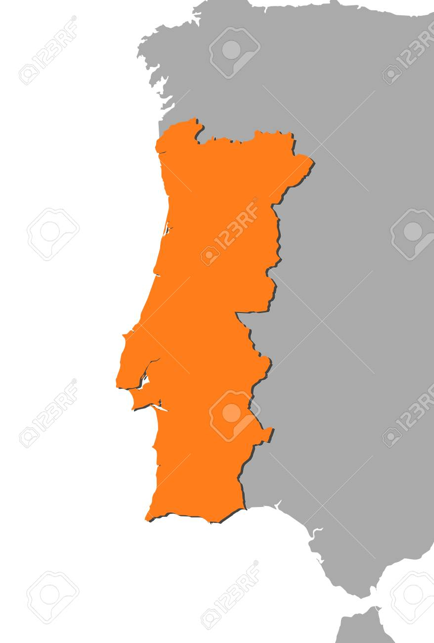Free vector world map with selectable countries awesome graphic map of portugal and nearby countries portugal is highlighted rh 123rf com gumiabroncs Gallery