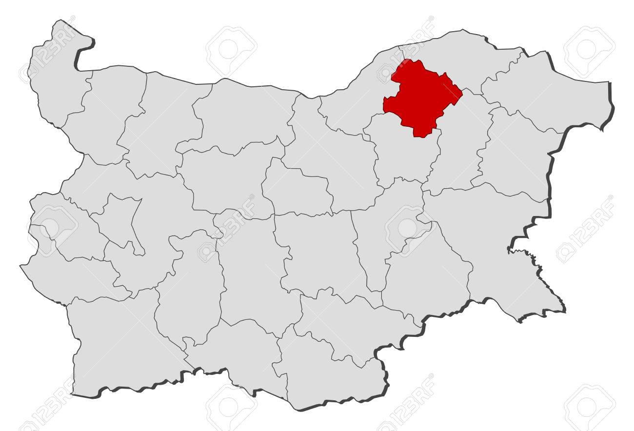 地図地方でブルガリア、ラズグラ...