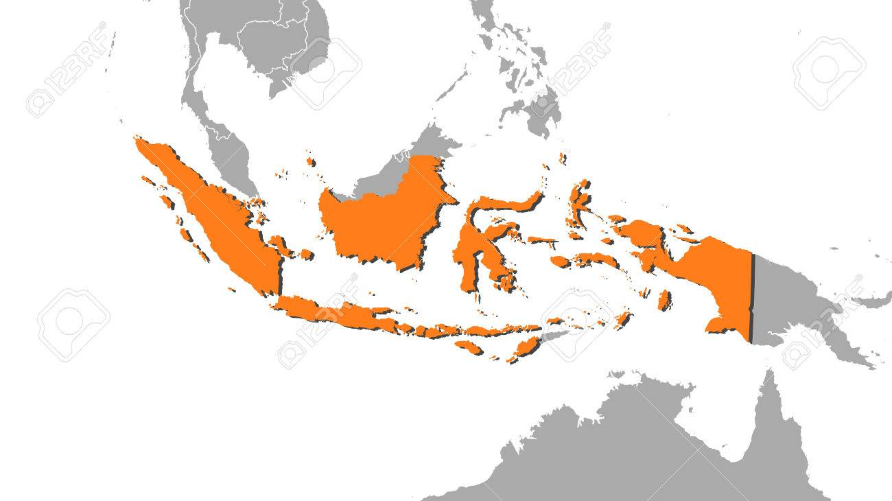 Map of indonesia and nearby countries indonesia is highlighted map of indonesia and nearby countries indonesia is highlighted in orange stock vector gumiabroncs Choice Image