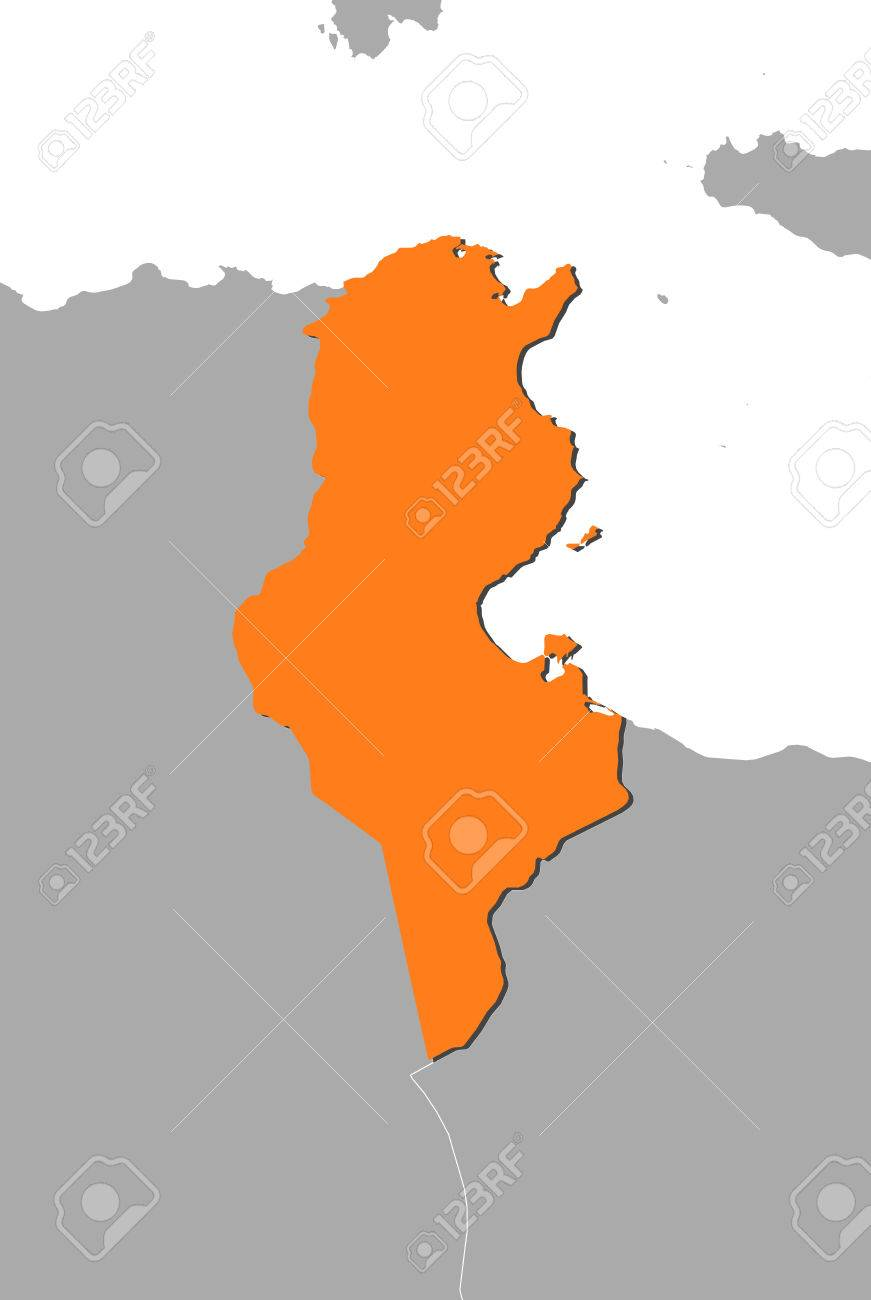 Map of tunisia and nearby countries tunisia is highlighted in map of tunisia and nearby countries tunisia is highlighted in orange stock vector sciox Images