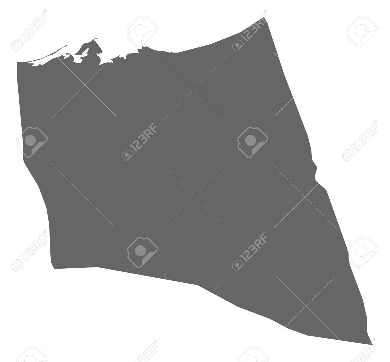 Map of North Sinai, a province of Egypt