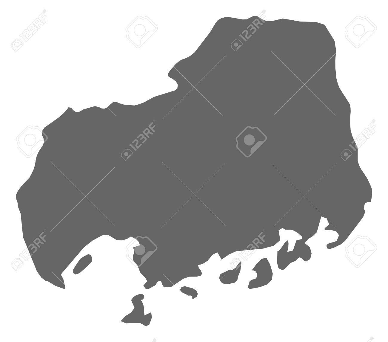 Hiroshima Map Of Japan.Map Of Hiroshima A Province Of Japan Royalty Free Cliparts