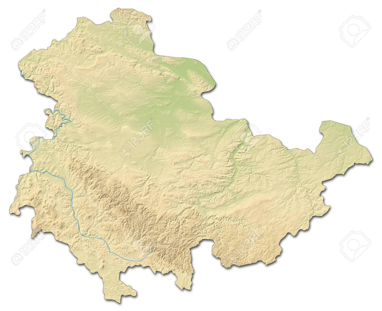 Carte Allemagne Thuringe.Carte En Relief De Thuringe Une Province D Allemagne Avec Un