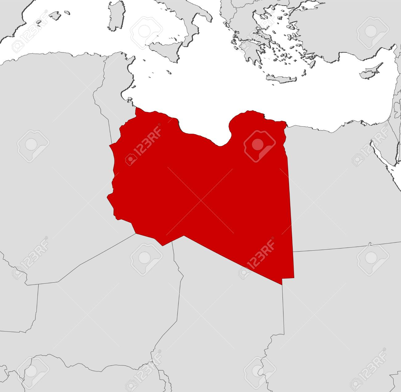 Map of libya and nearby countries libya is highlighted in red map of libya and nearby countries libya is highlighted in red stock vector gumiabroncs Gallery