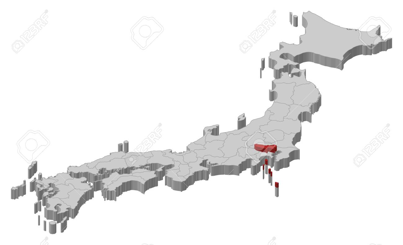 Map of japan as a gray piece tokyo is highlighted in red royalty map of japan as a gray piece tokyo is highlighted in red stock gumiabroncs Gallery