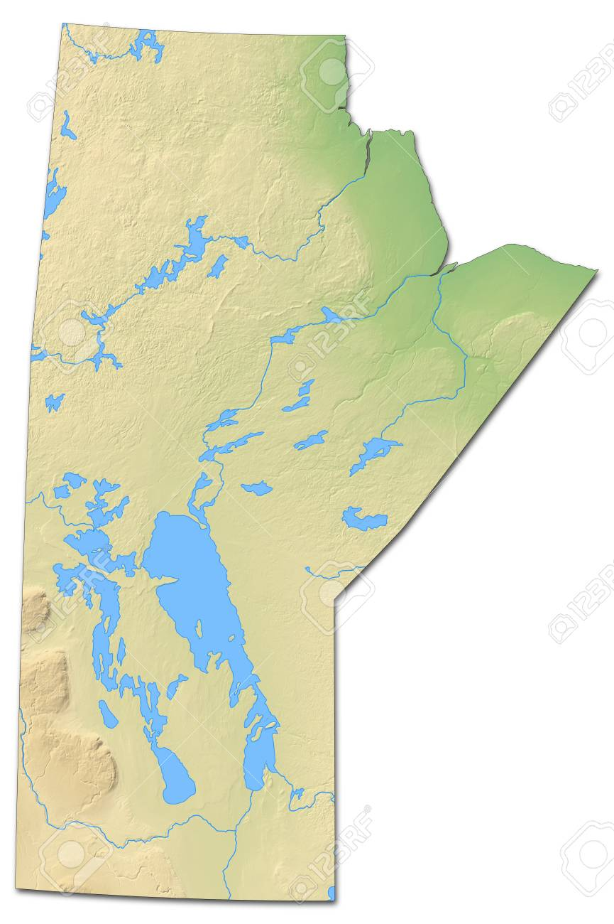 Carte Canada Manitoba.Carte Du Relief Du Manitoba Une Province Du Canada Avec Relief