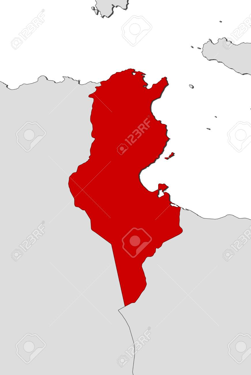 Picture of: Map Of Tunisia And Nearby Countries Tunisia Is Highlighted In Royalty Free Cliparts Vectors And Stock Illustration Image 61073758