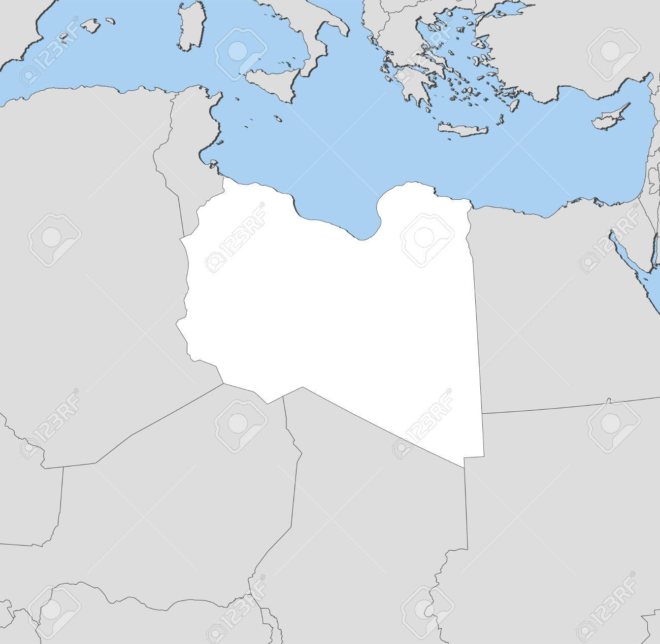 Map of libya and nearby countries libya is highlighted in white map of libya and nearby countries libya is highlighted in white stock vector gumiabroncs Choice Image