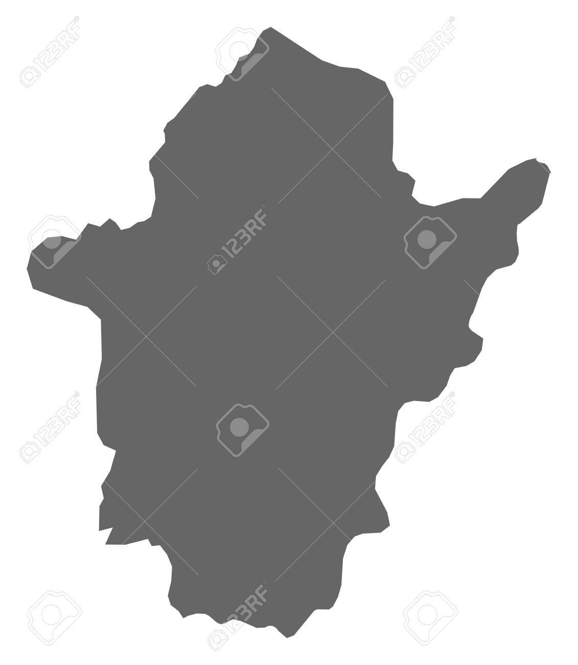 Map of B?k?s, a province of Hungary. - 60945707