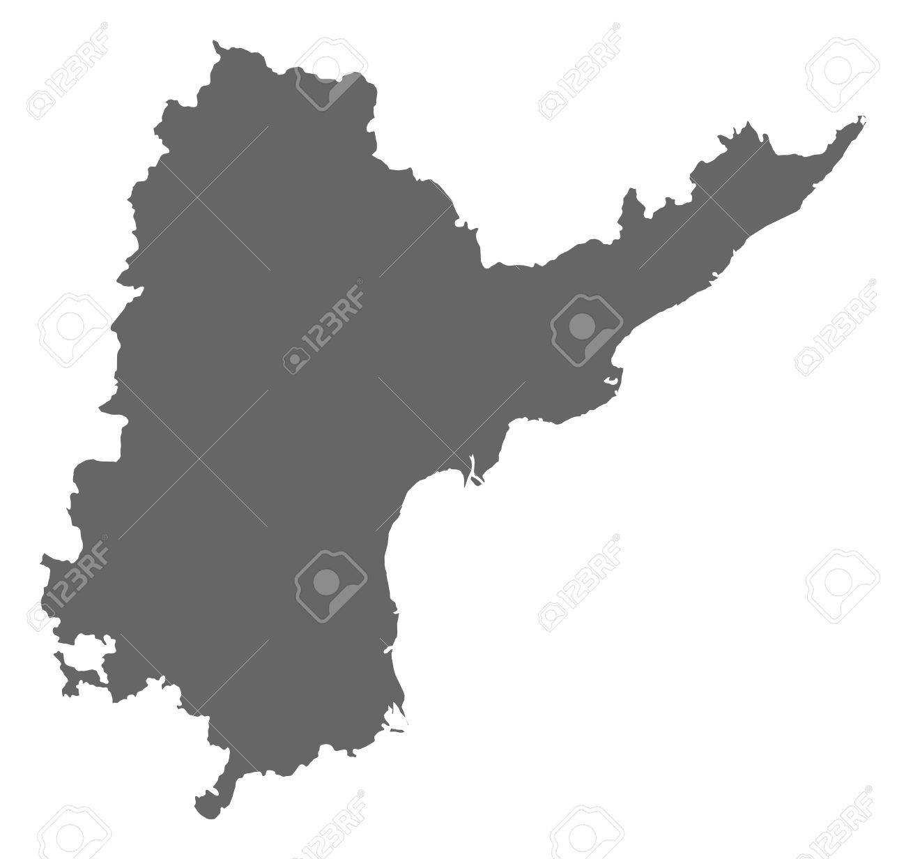 Map Of Andhra Pradesh, A Province Of India. Royalty Free Cliparts ...
