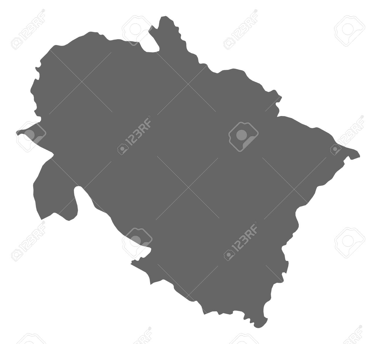 Map Of Uttarakhand, A Province Of India. Royalty Free Cliparts ...