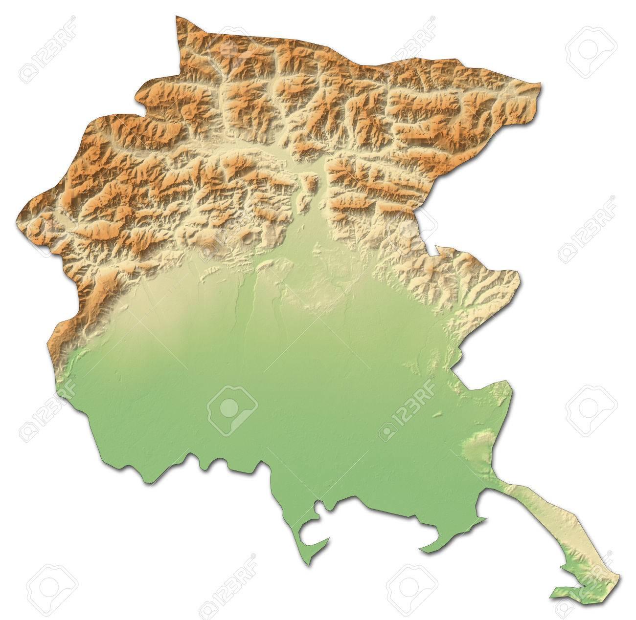 Cartina Fisica Del Friuli Venezia Giulia.Relief Map Of Friuli Venezia Giulia A Province Of Italy With Stock Photo Picture And Royalty Free Image Image 63796434