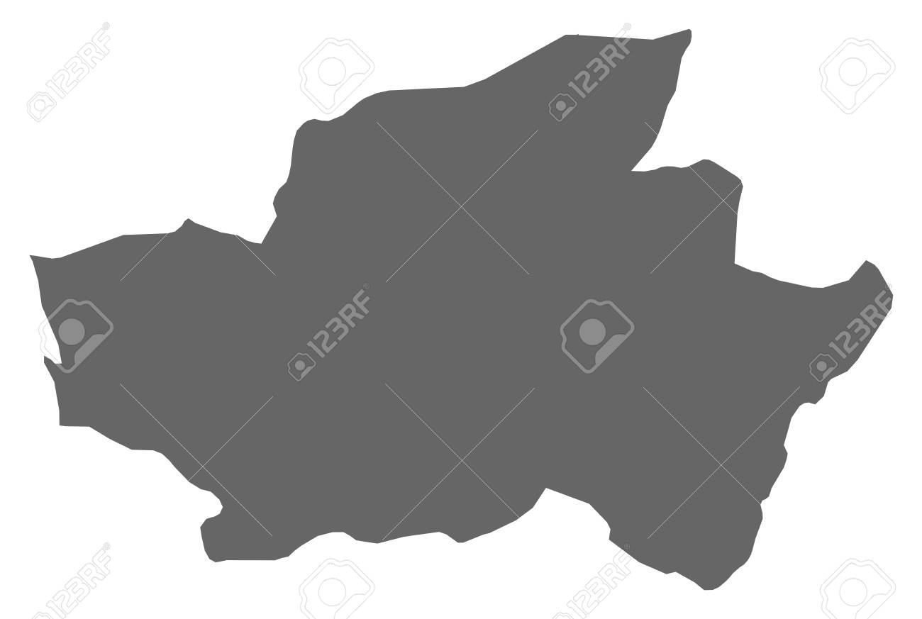 Map Of Braga A Province Of Portugal Royalty Free Cliparts Vectors