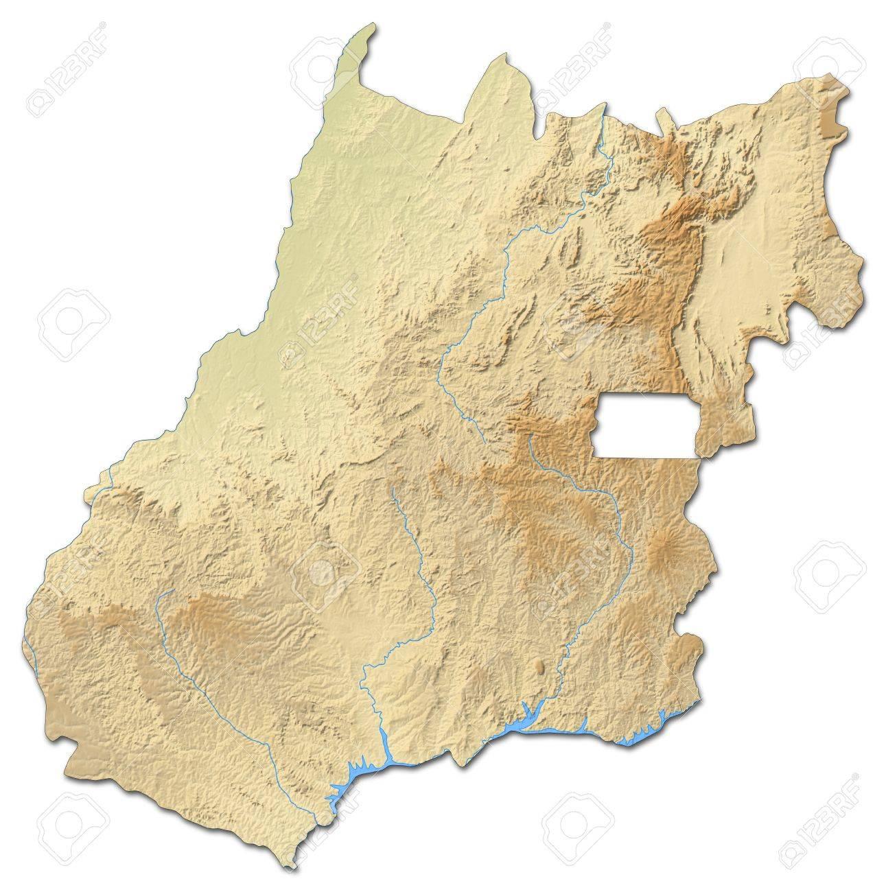 Carte Bresil Relief.Carte Du Relief De Goi S Une Province Du Bresil Avec Relief Ombre