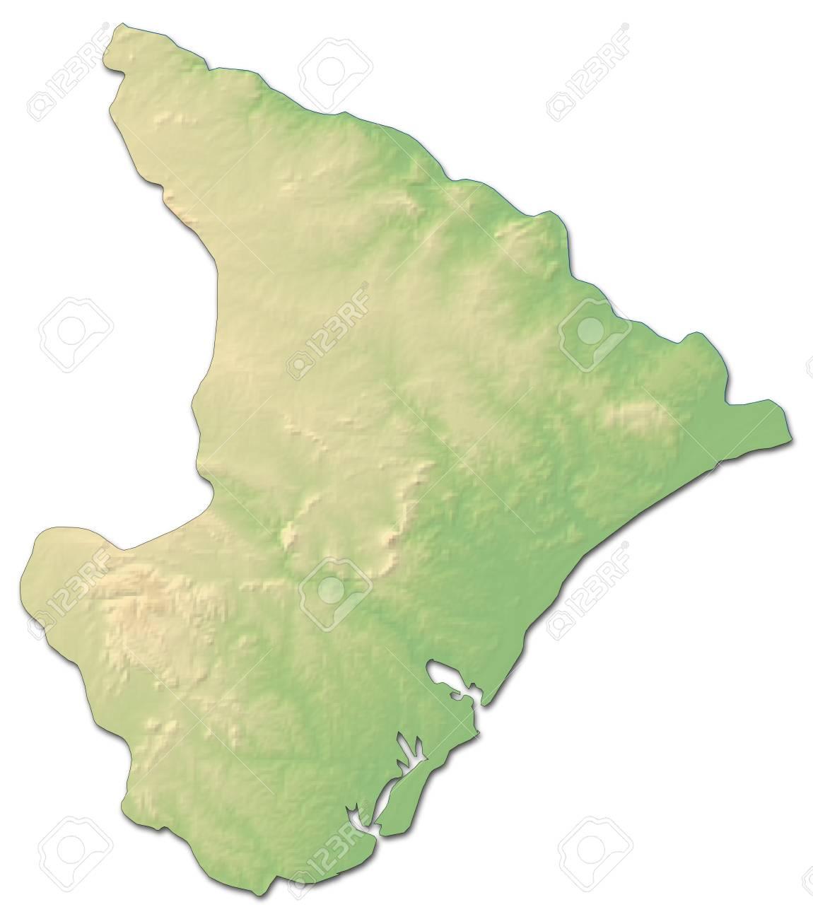 Carte Bresil Relief.Carte En Relief De Sergipe Province Du Bresil Avec Relief Ombrage