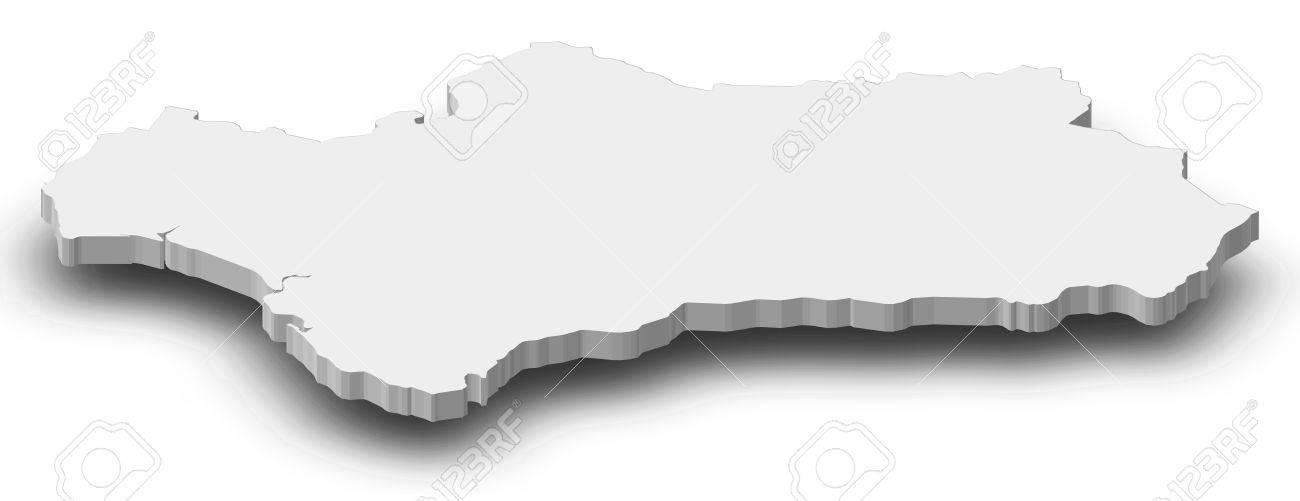 Karte Von Andalusien Spanien.Stock Photo