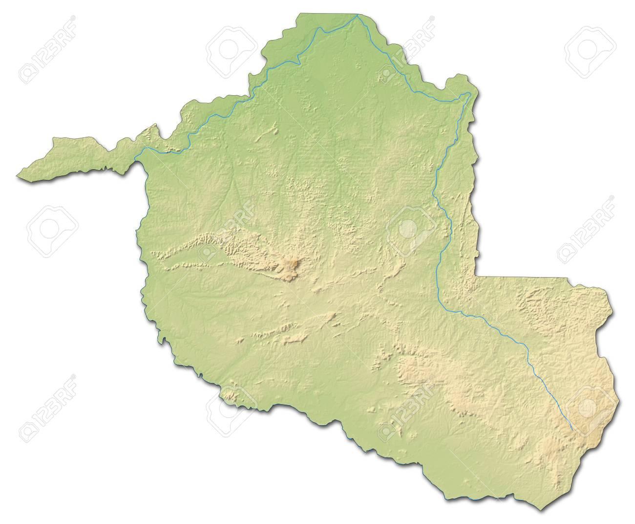 Carte Bresil Relief.Carte En Relief Du Rond Nia Une Province Du Bresil Avec Un Relief