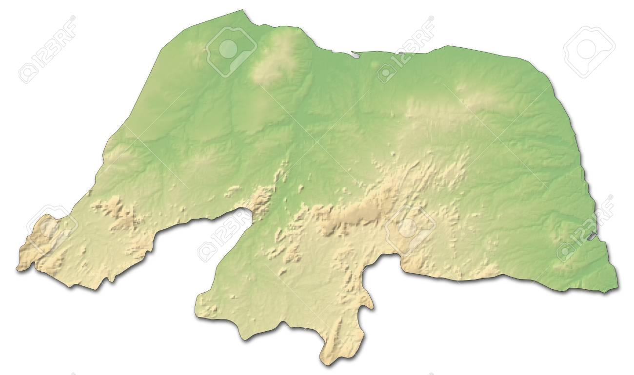Carte Bresil Relief.Carte Du Relief Du Rio Grande Do Norte Une Province Du Bresil Avec