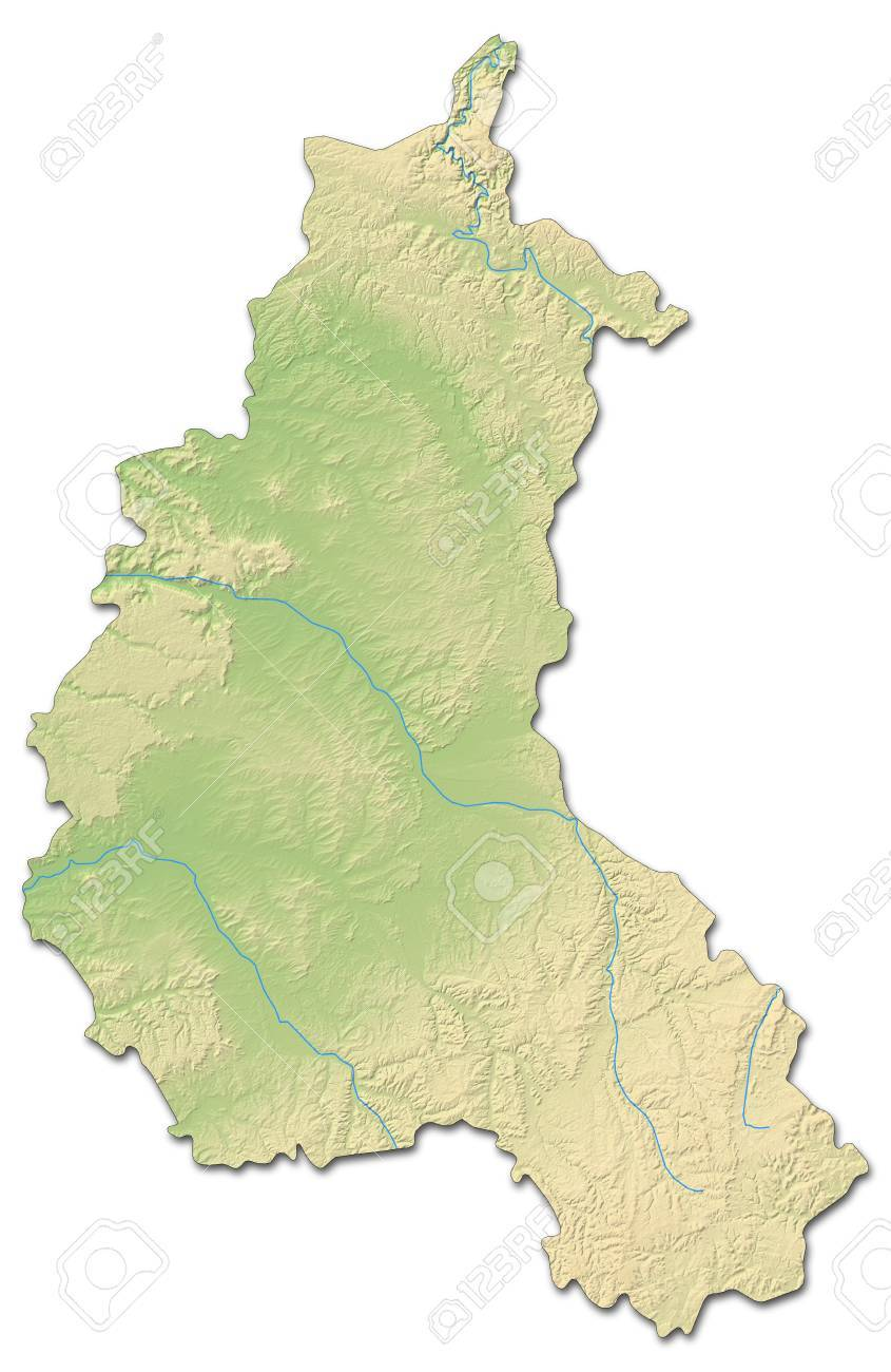 Relief Map Of Champagne-Ardenne, A Province Of France, With Shaded on