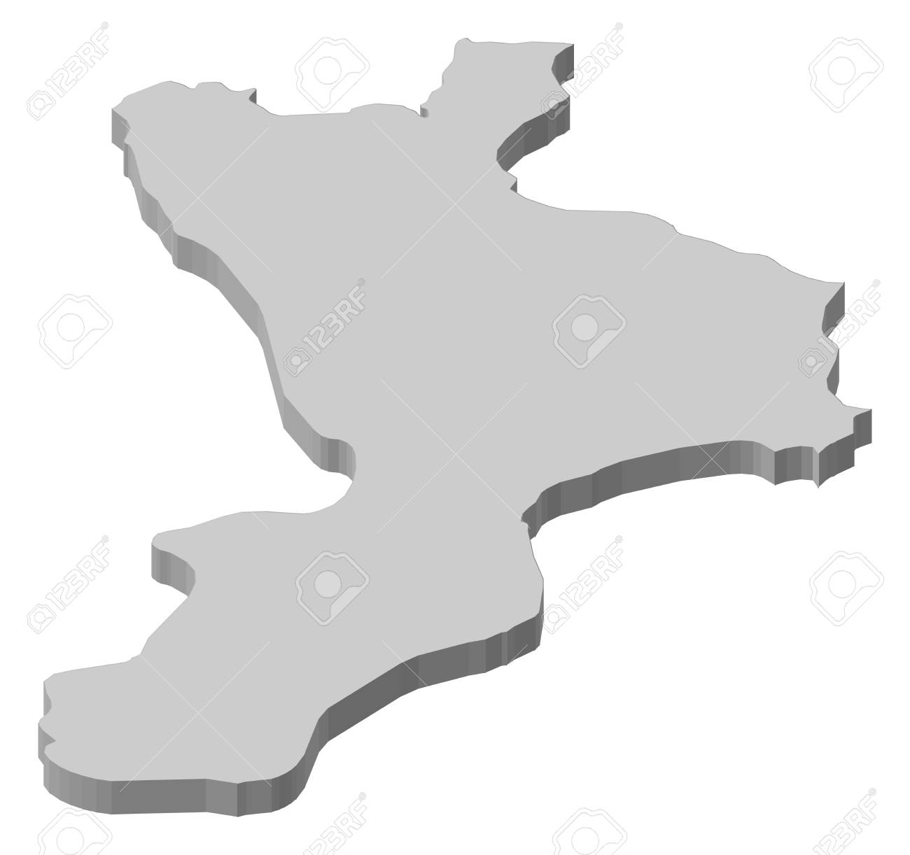 Map Of Calabria A Province Of Italy Royalty Free Cliparts Vectors